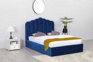 Flair Poseidon Velvet Ottoman Bed Frame