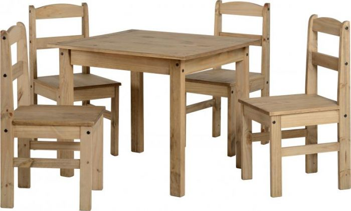 Seconique Panama Dining Set in Natural Wax