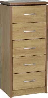 Seconique Charles 5 Drawer Narrow Chest