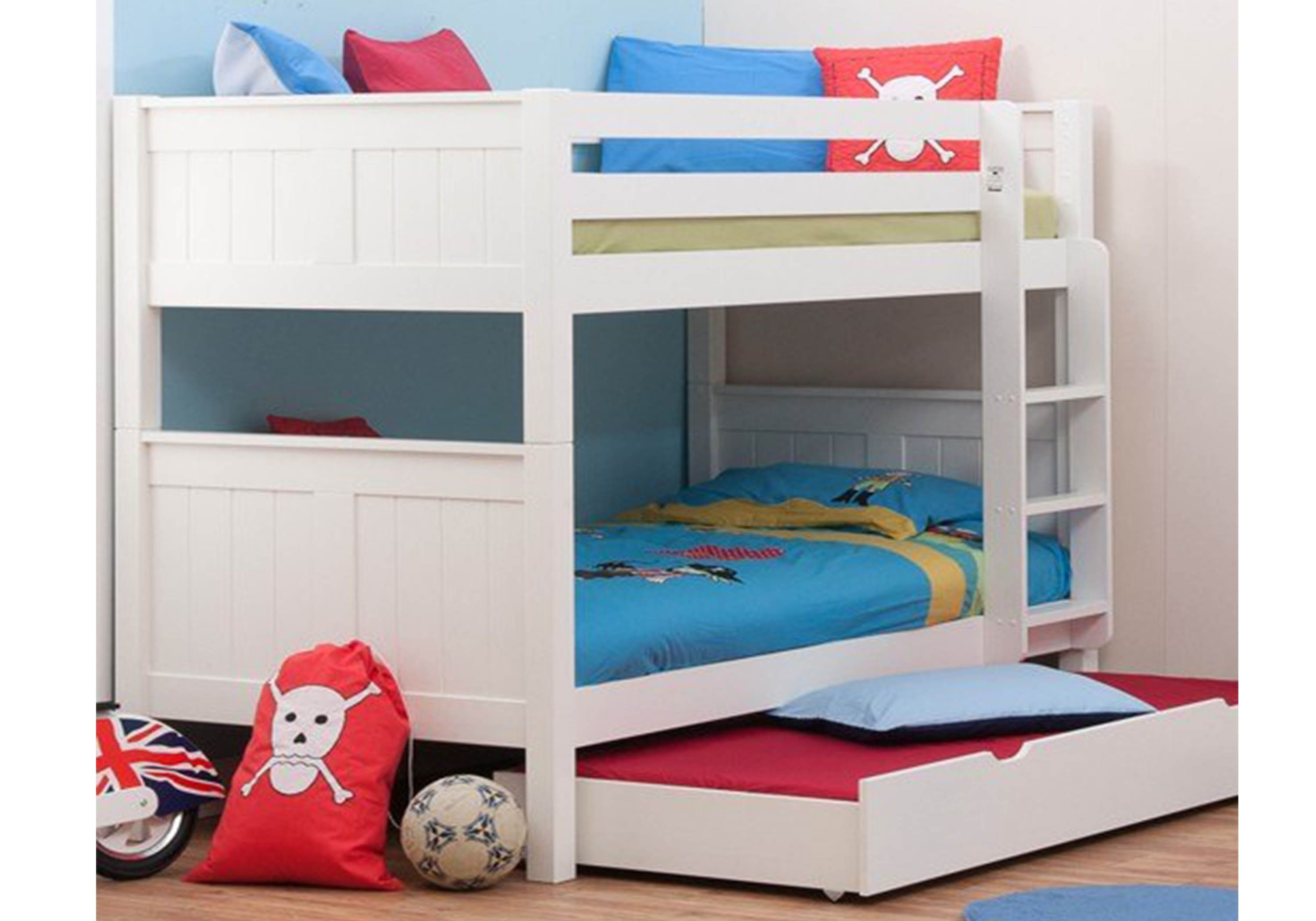 Picture of: Stompa Classic Kids White Bunk Bed