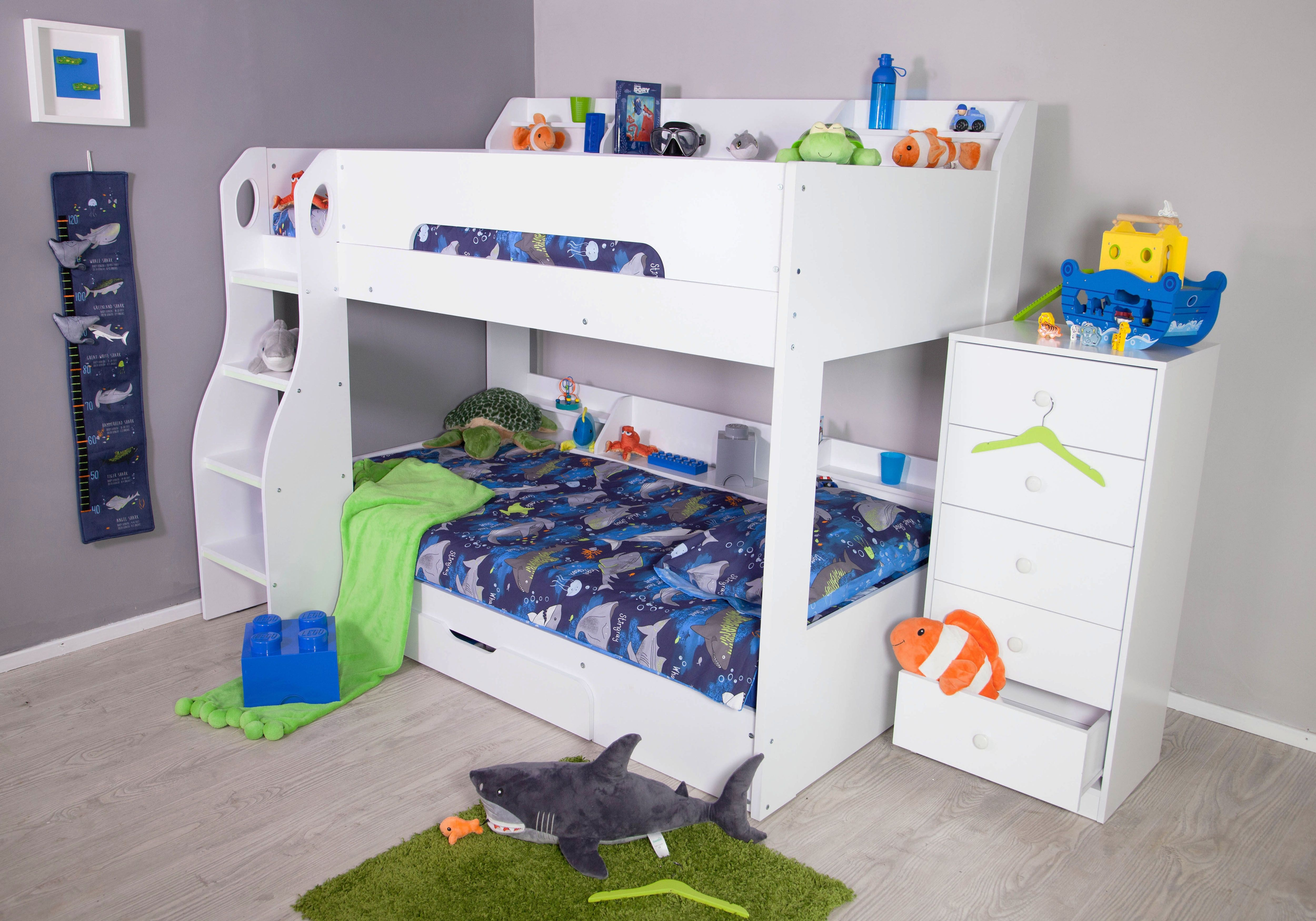 Picture of: Flair Furnishings Flick Bunk Bed White
