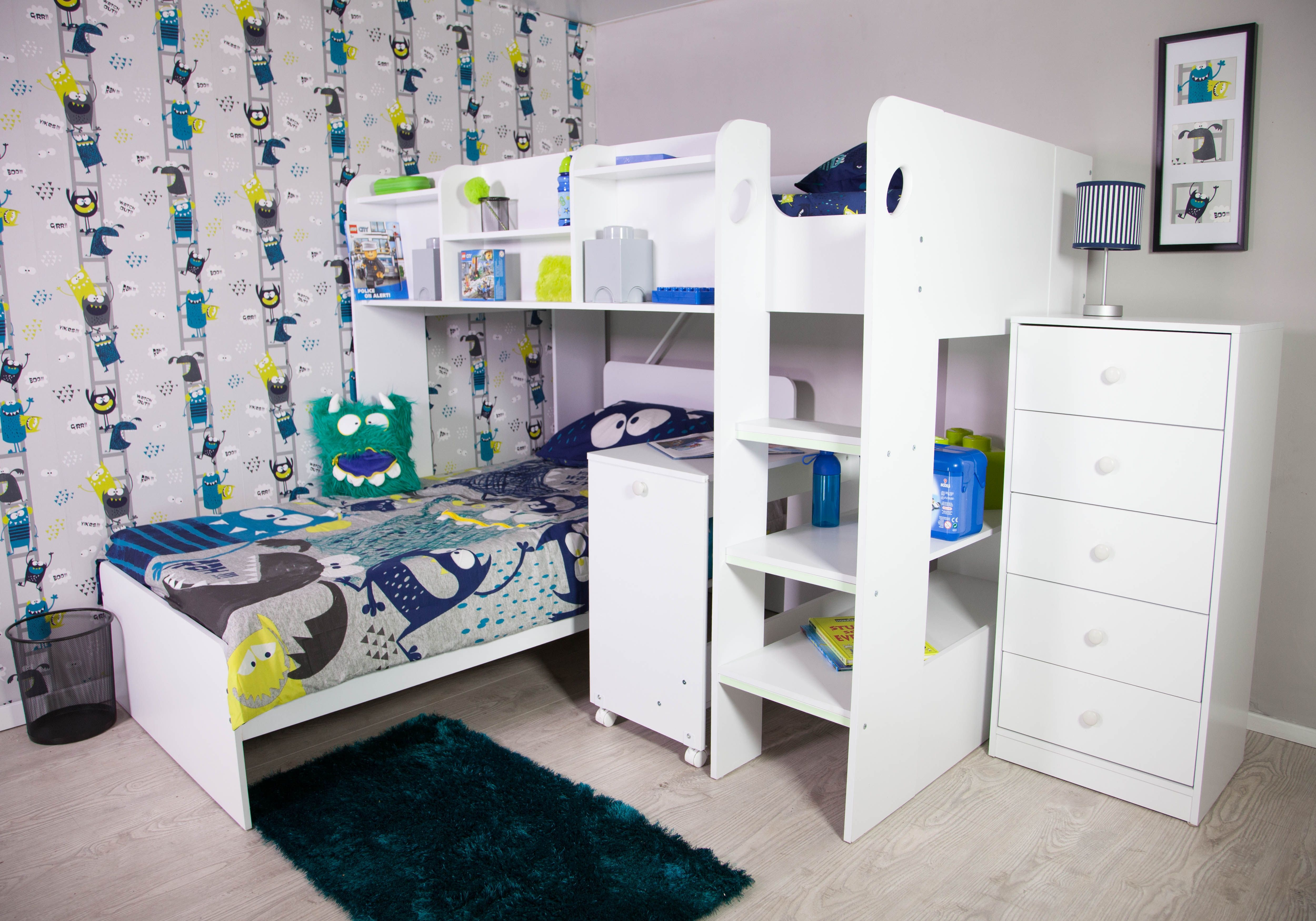 Picture of: Flair Furnishings Wizard Junior L Shaped Bunk Bed