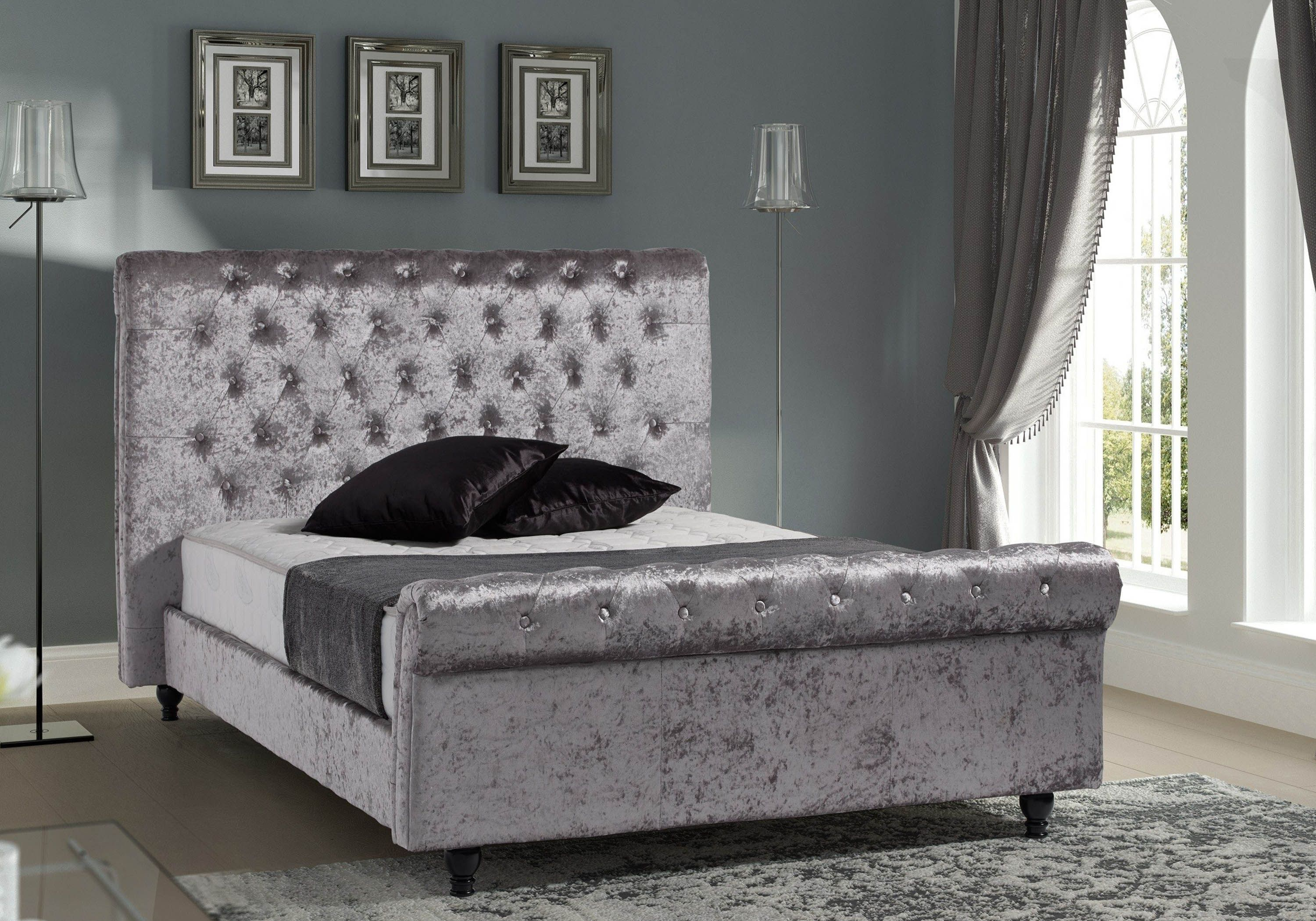 Sareer Stella Crushed Velvet Bed Frame
