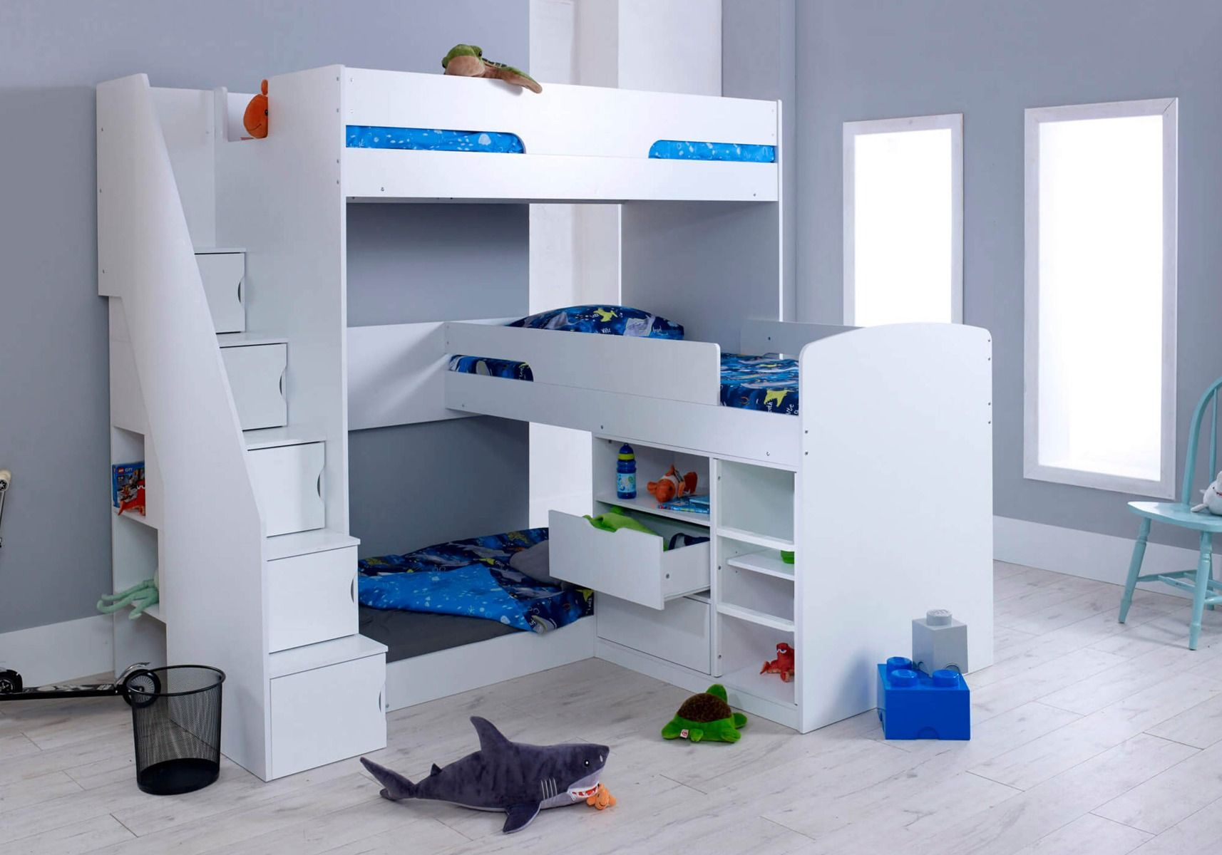 Picture of: Flair Furnishings Oscar Triple Bunk Bed