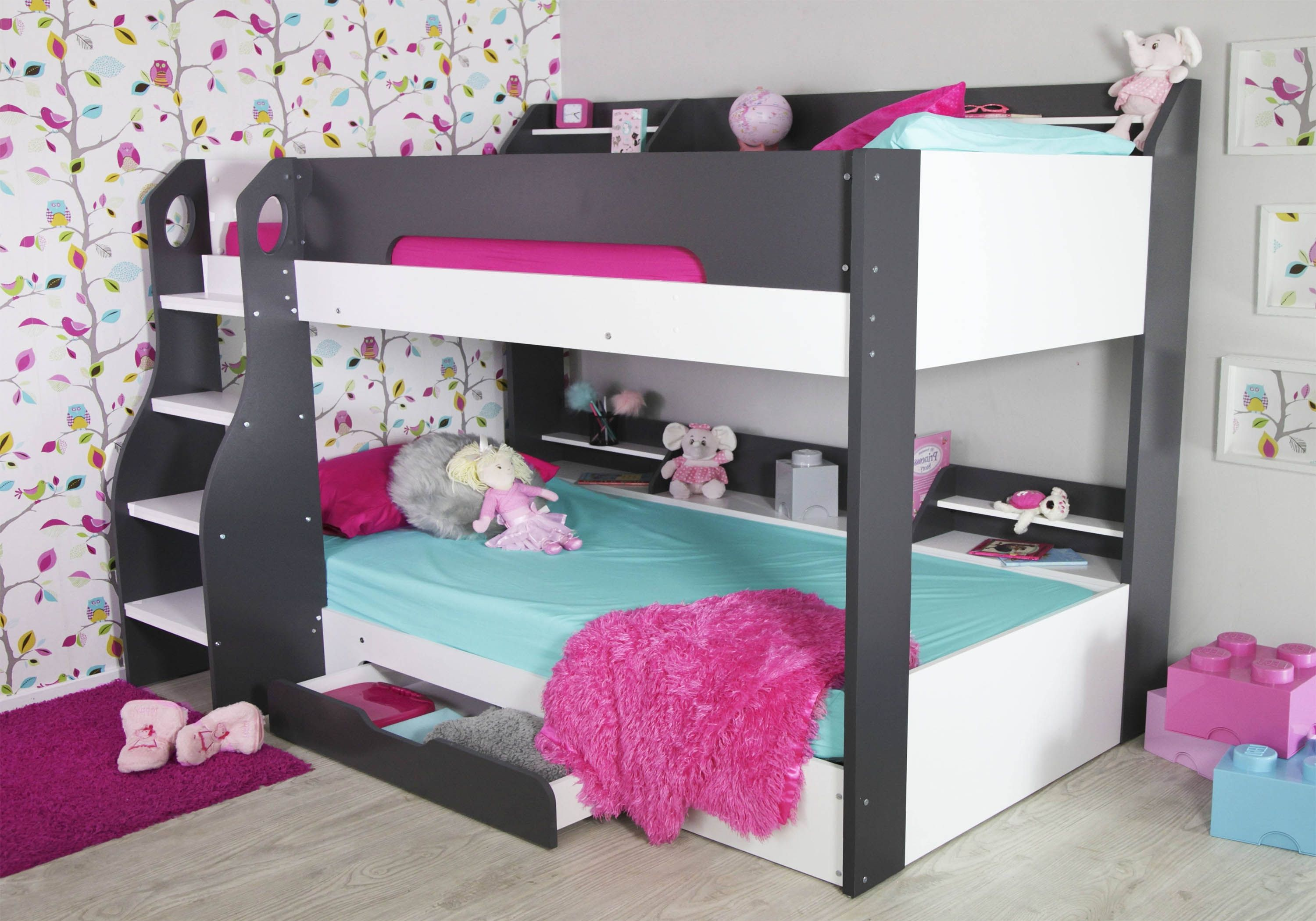 Picture of: Flair Furnishings Flick Bunk Bed Grey