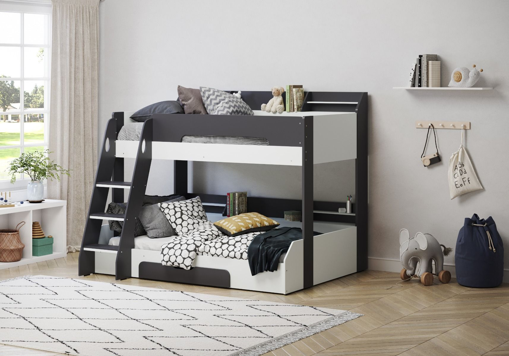 Flair Furnishing Flick Triple Bunk Bed Grey