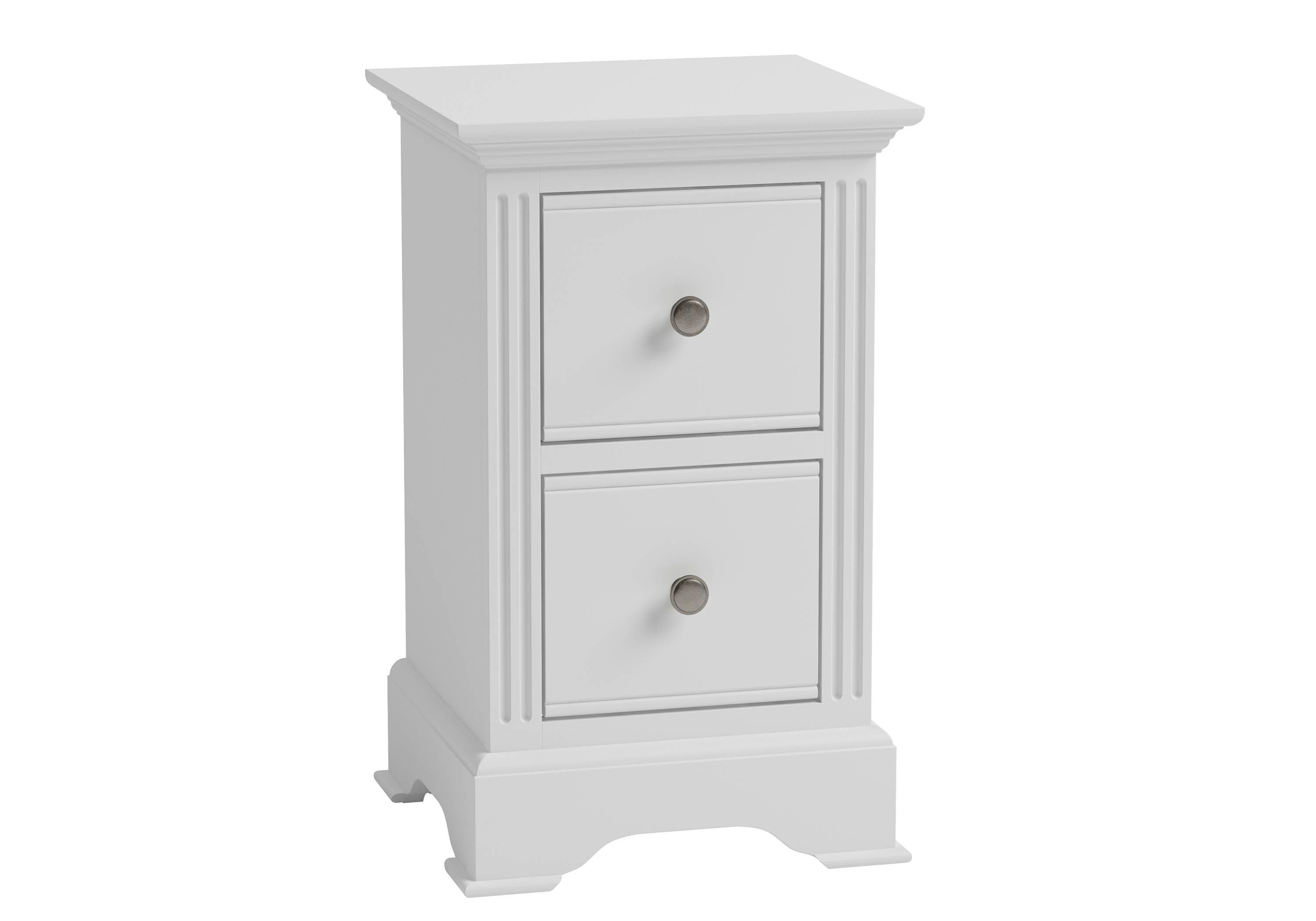 Kettle Interiors Essential White Small Bedside Cabinet