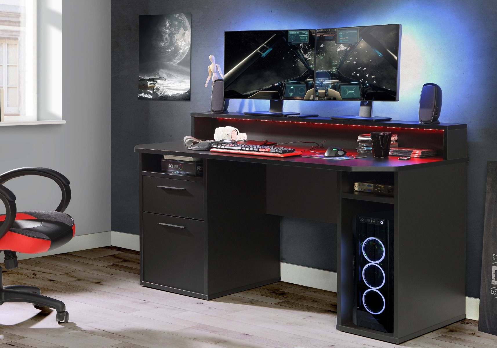 Flair Furnishings Power Z Gaming Desk