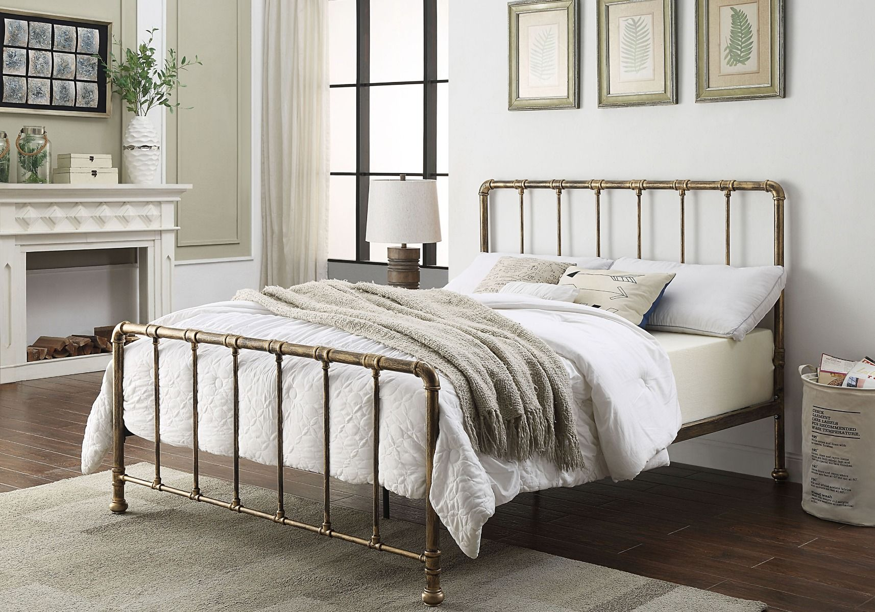 Flintshire Furniture Kinnerton Antique Bronze Metal Bed Frame