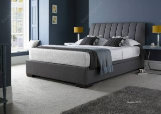 Kaydian Lanchester Fabric Ottoman Bed Frame in Grey
