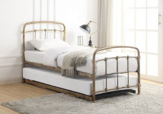 Flintshire Furniture Mostyn Antique Bronze Metal Guest Bed