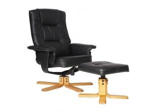 Alphason Drake Reclining Chair with Footstool Set