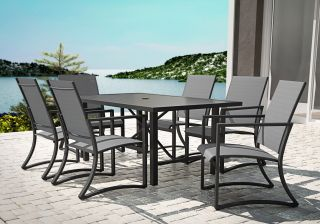 Cosco Capitol Hill 7 Piece Steel Dining Set