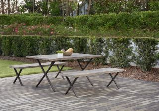 Cosco Farmstead 3 Piece Table and Bench Set