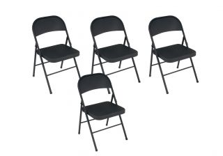 Cosco All Steel Folding Chairs Set of 4