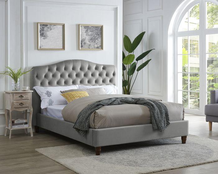 LPD Sorrento Cappuccino Fabric Bed Frame