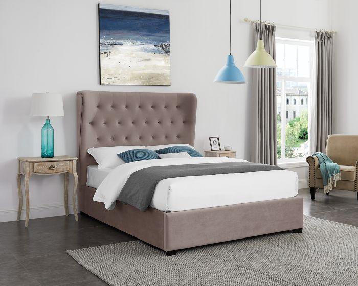 LPD Belgravia Cappuccino Fabric Bed Frame