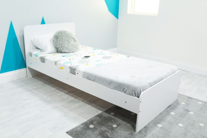 Flair Furnishings Wizard Single White Bed Frame