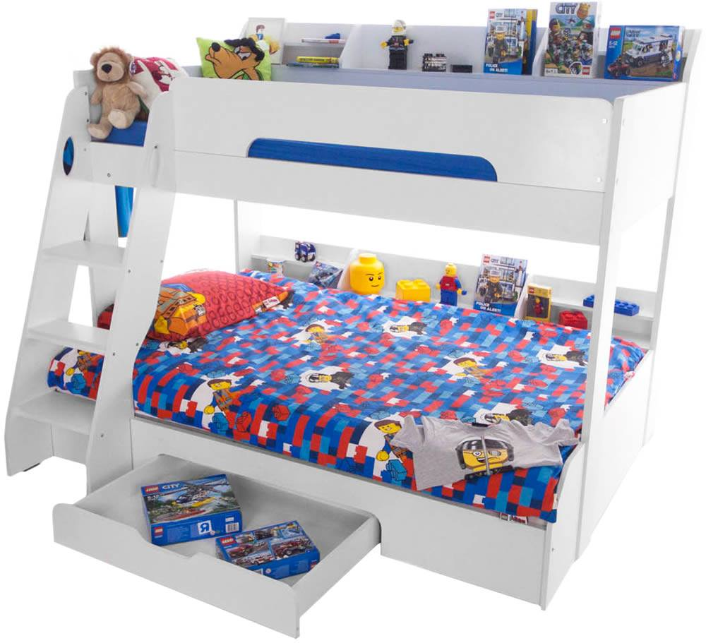 Flair furnishings flick bunk bed white bunk beds kids beds for Bunk bed alternative